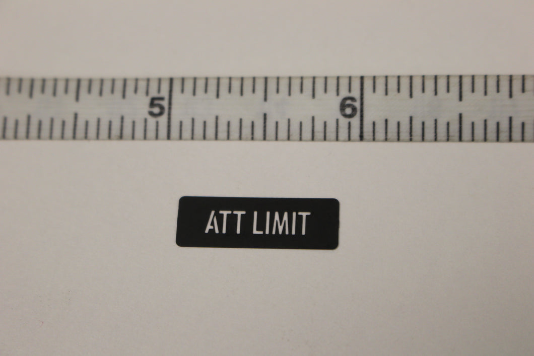 ATT LIMIT Legend Plate Identification Marker, 7690-01-518-1874, New