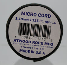 Load image into Gallery viewer, Braided Sport Micro Cord 1.18mm x 125 ft Nylon Rope - Woodland