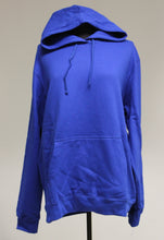 Load image into Gallery viewer, Port & Company Blue Hoodie, Size: Large
