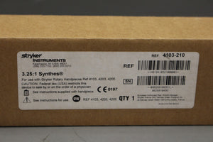 Stryker 4103-210 3.25:1 Synthes Reamer, New