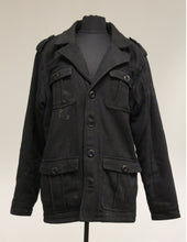 Load image into Gallery viewer, BKE 67 Black Lined Button Up Coat. Medium