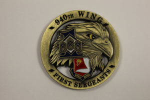 940th Wing First Sergeants Eagle Challenge Coin