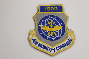 USAF Air Force Air Mobility Command 1500 Hours Patch, Scott Air Force Base, Illinois, Hook & Loop,