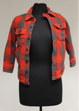 Load image into Gallery viewer, Gap Kids Plaid Lined Shirt, Size: Small, Red/Black