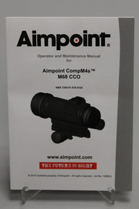 Operator & Maintenance Manual for Aimpoint CompM4s M68 CCO, 1240-01-576-6134, New