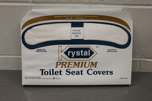 Krystal Toilet Seat Covers, Pack of 250, NEW!