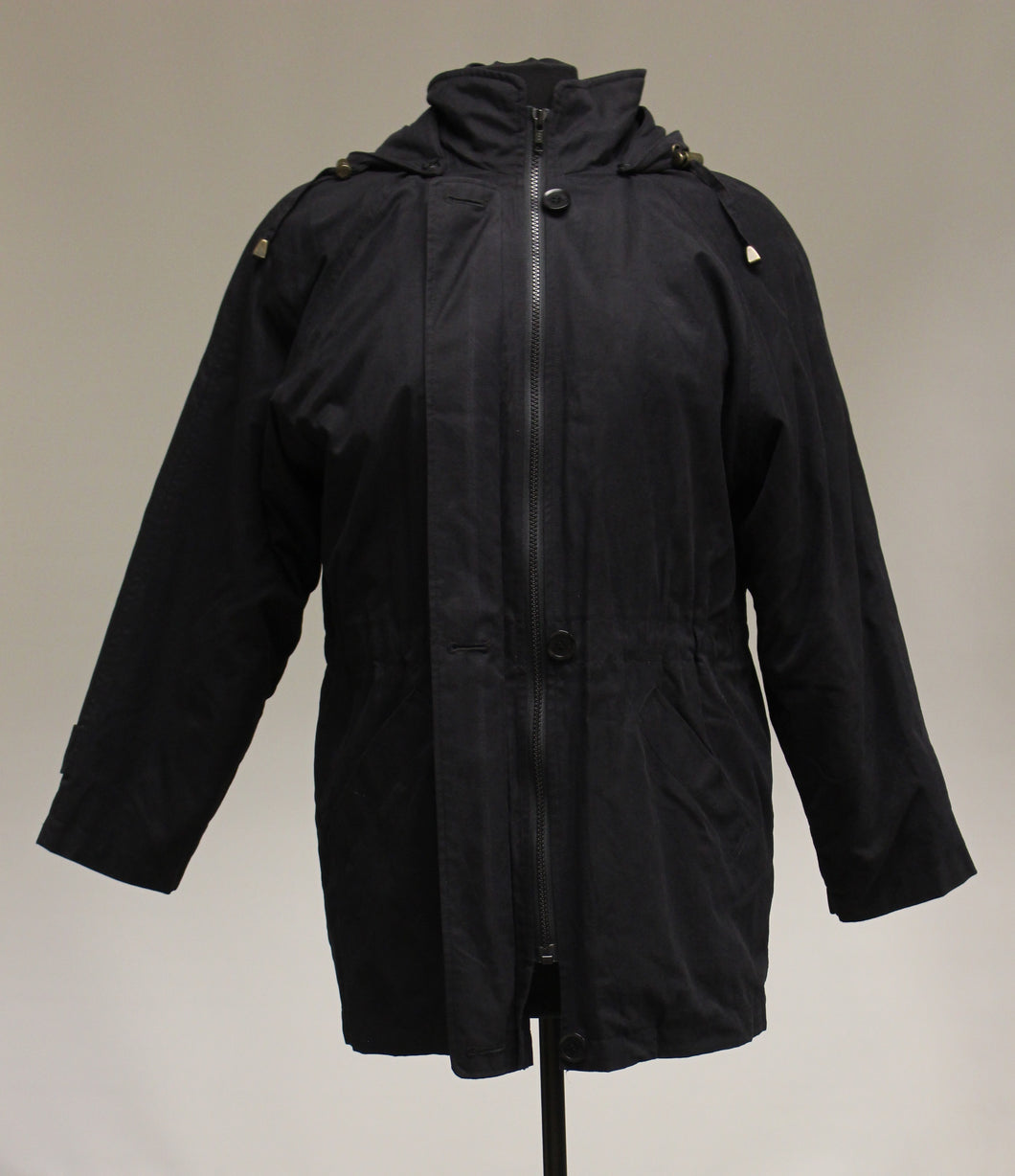 London Fog Ladies Black Winter Coat, Size: Small P