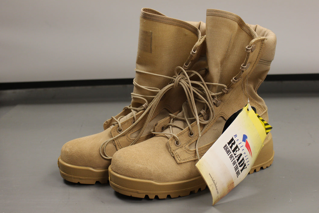 Belleville Steel Toe Safety Boot, Size: 5.5 R, Color: Tan, NEW!