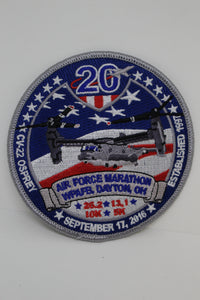 Air Force WPAFB 20th Annual Marathon Patch, Sept 17, 2016