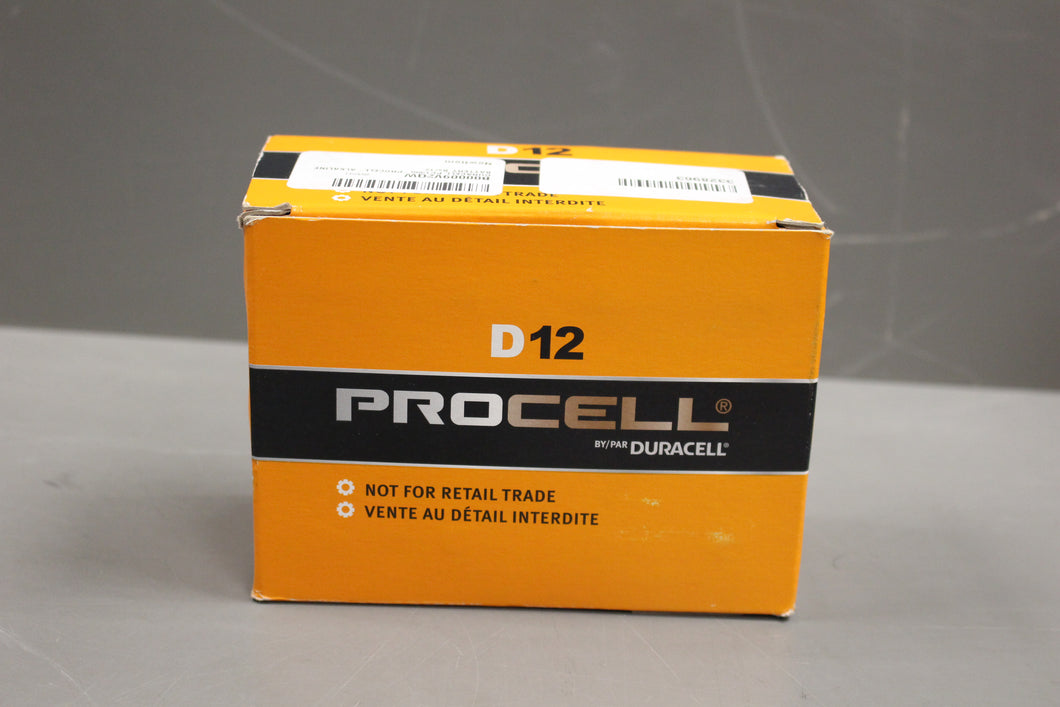 Duracell Procell D Alkaline Battery, Pack of 12 Batteries, D12