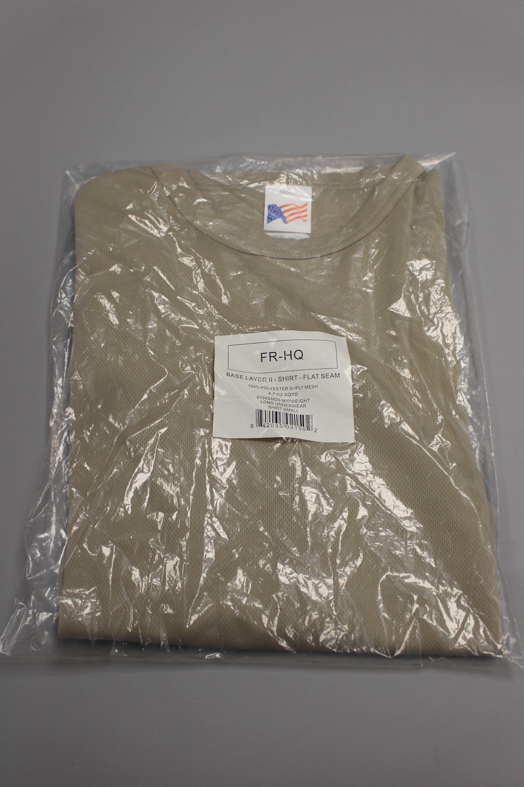 Midweight Long Underwear Base Layer II Shirt, Small, FR-HQ, New