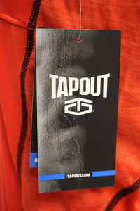 Tapout Flame Scarlet Left Chest Button Muscle Athletic Shirt Size Small