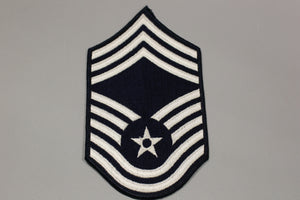 AF Air Force Embroidered Chevron Chief Master Sergeant E-9, Medium, 3.75""