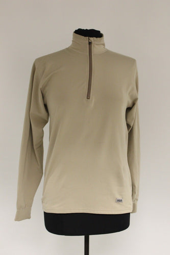 XGO Technical Apparel Quarter-Zip Long Sleeve Shirt, Size: Large, Cream