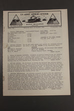 Load image into Gallery viewer, US Army Armor Center Daily Bulletin Official Notices, September 1968