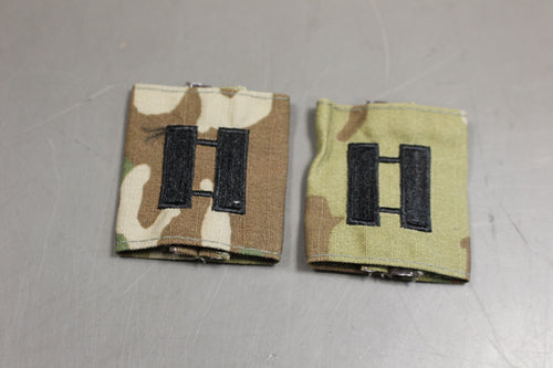 Set of 2 Chevron Gortex APECS Slide On Tab Rank, OCP / Multicam: Captain