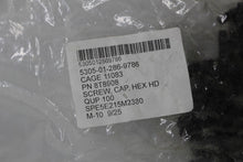 Load image into Gallery viewer, Hexagon Head Screw Cap, NSN 5305-01-286-9786, P/N 8T8908, Bag of 100, Black, NEW