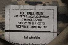 Load image into Gallery viewer, USAF Men's Utility Coat, Digital Tiger, Size: 42R, NSN: 8415-01-536-4583, New!