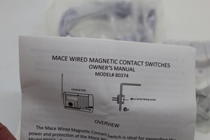 Mace Security Wired Magnetic Contact Sensor Kit, Model 80374, NEW!