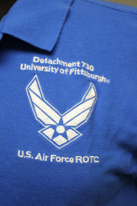 University of Pittsburgh US AF ROTC Polo Shirt, Small, Royal Blue