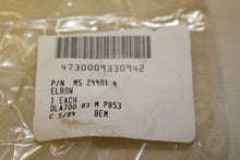 Load image into Gallery viewer, Lot of 10 Tube Elbows, NSN 4730-00-933-0942, P/N MS 24401 4, AN821-4C, New