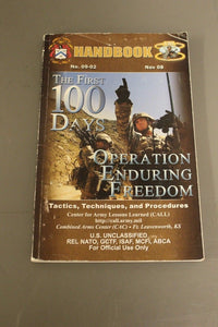 The First 100 Days Operation Enduring Freedom Tactics, Techniques, and Procedure