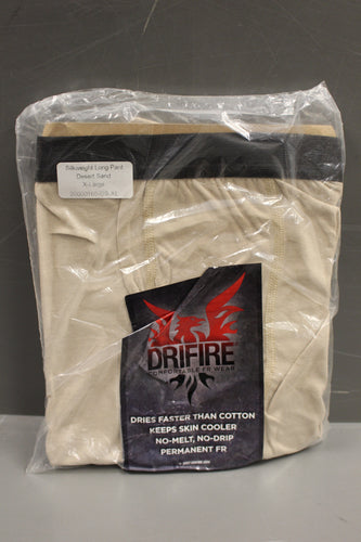 DriFire Silkweight Long Pants, Color: Desert Sand, Size: XL, New