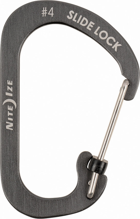 Nite Ize Carabiner SlideLock #4 - Coal - New