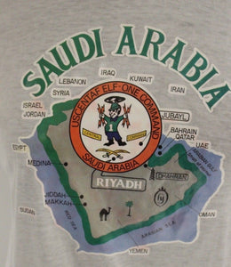 Saudi Arabia T-Shirt, USCENTAF Elf-One Command, Medium, Large, XL