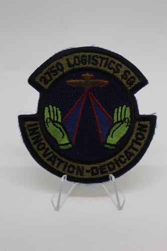 USAF Air Force 2750 Logistics Sq Patch, Innovation - Dedication, Sew On