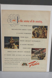 In The Service of its Country, The Fisher Body Org Builds Tanks Magazine Memorabilia