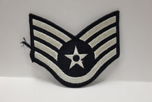 "Load image into Gallery viewer, AF Air Force Embroidered Chevron Staff Sergeant E-5, Small, 3.5"","