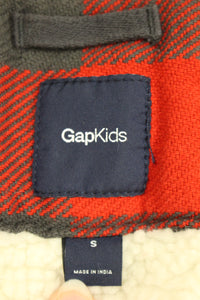 Gap Kids Plaid Lined Shirt, Size: Small, Red/Black