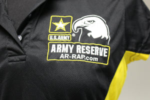 U.S. Army Reserve Black & Yellow Polo, Small