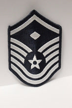 "Load image into Gallery viewer, AF Air Force Embroidered Chevron Master Sergeant 1st Sergeant E-7, Small, 3.5"","