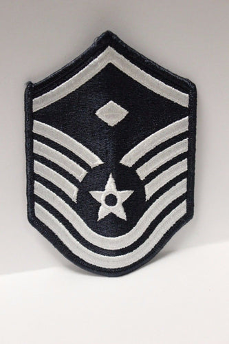 AF Air Force Embroidered Chevron Master Sergeant 1st Sergeant E-7, Small, 3.5