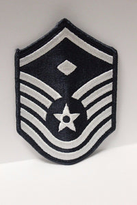 "AF Air Force Embroidered Chevron Master Sergeant 1st Sergeant E-7, Small, 3.5"","