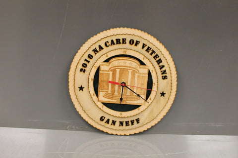 2016 NACARE of Veterans Wooden Clock, GAN NEFF