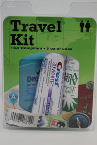 Carry-On TSA Compliant Travel Kit,Deodorant/Toothbrush/Paste/Clippers/Lotion, New!
