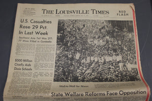 Louisville Times, May 21, 1970, Wall To Wall For Nixon