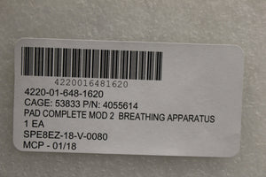 Draeger Gas Recycling Self-Contained Breathing Apparatus MOD2 Pads, New