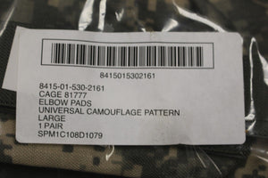 Set of Military ACU Elbow Pads, Size: Large, NSN: 8415-01-530-2161, Brand New!!