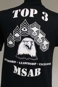 407th Air Expeditionary Group Top 3 MSAB, Short Sleeve T-Shirt, Black, Small, New