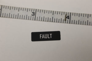FAULT Legend Plate Identification Marker, 7690-01-518-1843, New