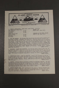 US Army Armor Center Daily Bulletin Official Notices, No 210, October 25, 1968