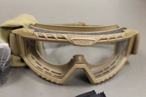 Uvex XMF Tactical Goggle Kit With Dura-streme Lens, Tan, 4240-01-630-8058, New