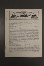 Load image into Gallery viewer, US Army Armor Center Daily Bulletin Official Notices, Year: 1970