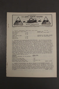 US Army Armor Center Daily Bulletin Official Notices, Year: 1970