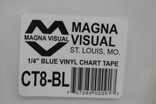 "Load image into Gallery viewer, Magna Visual CT8-BL Blue Vinyl Chart Tape, 1/4"" x 27'"