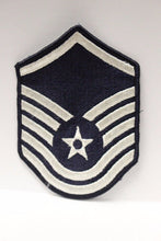 "Load image into Gallery viewer, AF Air Force Embroidered Chevron Master Sergeant E-7, Medium, 3.75"","
